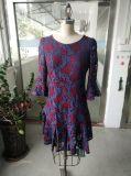 Spring Elegant Lace Flower Ladies Dress