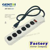 6 Outlets USB Grounding Power Strip