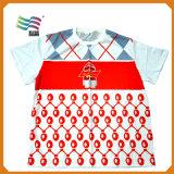 100% Cotton Men′s Tshirt with Custom Printed Logo