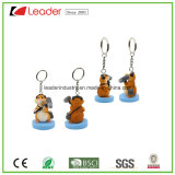 Resin Lovely Hamster 3D Keychain for Souvenir and Promotion Gifts, OEM Orders Welcomed