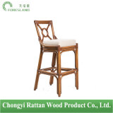 Natural Rattan New Chinese Style Barstool Bar Chair