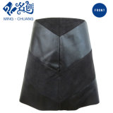 Newstyle Black Zipper fashion Summer Women Skirt with Plasticleather