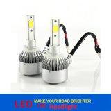 72W 7600lm 3000k 6000k COB C6 LED Headlight 880/881 H1 H3 H7 H8/H9/H11 9005 9006 Car LED Head Lamp