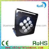 9PCS 10W RGBW 4in1 Engin PAR Can LED Flat PAR Light (YE103)