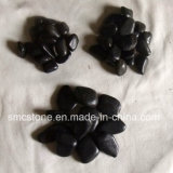 Black Natural Polished a Cobble &Pebble Stone (SMC-PB023)