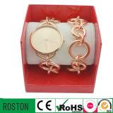 Alloy Strap and Case Lady Bracelet Watch