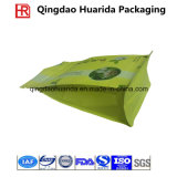 Flat Bottom Zipper Plastic Coffee Packaging Bag with Tear Notch