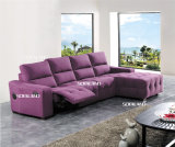 Purple Color Antique Style Fabric Recliner Sofa
