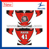 Healong Hot Selling Sportswear Any Sizes From S-5XL Sublimation School Ice Hockey Jersey