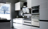 Lacquer Kitchen with Wood Veneer Cabinets (zz-046)