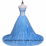Tulle Lace Beaded Crystal A-Line Sweetheart Formal Evening Dress