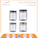 2017 Hot Sale Glass Jars with Metal Cap and Logo Printing