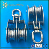 Stainless Steel Swivel Double Sheave Pulley Block