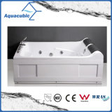 ABS Board Rectangle Whirlpool Massage Bathtub in White (AB0826)