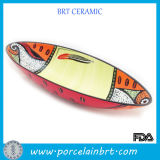 Ceramic Hand-Painted Boat Shaped Dishes