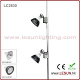 Silver/Black 5W/PC Double Heads LED MR16 Jewelry Spotlight with Rail LC2830