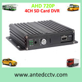 4 Channel Ahd 720p SD Card Mobile DVR for Car Vehicle Taxi Cab Vans Bus Video Recording Surveillance, Optional with 4G 3G GPS
