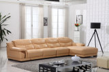 2015 Professional Produced Italian Leather Sectional Sofa Furniture (N813)