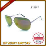 F14102 Glassic Unisex Metal Sunglasses with Mirror Lens