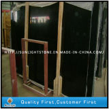 Cheap Polished Chinese Pure Black Jade Marble Slabs for Countertop/Patio/Paving