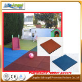 High Density Easy Install Playground Square Rubber Tiles