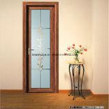 Customizable Glass Panel Pattern Aluminium Casement Door for Bathroom