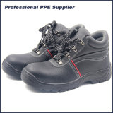 PU Injection Leather Safety Shoes with Steel Toe