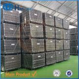 Warehouse Metal Folding Wire Mesh Container/Cage with PP Sheet