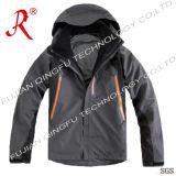 Men′s Waterproof Jacket with Detachable Hood (QF-676)