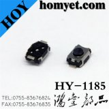 Tact Switch with 4*3*2.5mm 2 Pin SMD Type Black Button Round (HY-1185)
