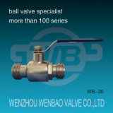 Male Threaded Stainless Steel Sanitary Ball Valve for Potable Water