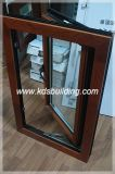 Heat Insulation Sound Proof Double Glazing Aluminum-Wooden Window (KDSAW004)