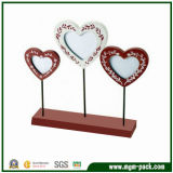 Elegant Heart-Shaped Wooden Picture Frames with 3 Pictures