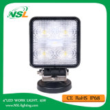 15W LED Work Light, 10-30V DC LED Work Light with 1275lm, Spot/Flood Beam, 5PCS X 3W Epsitar LEDs for Trucks, LED Work Light