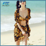 Pretty Girl Mature Swimsuit with Sun-Proof Cover up