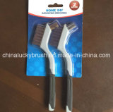 2PCS Plastic Handle Brass and Ss Wire Set Brush (YY-511)