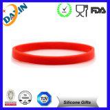 OEM Multicolor Debossed&Embossed Silicone Bracelet for Promotion Gift