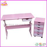 Wooden Children Furniture Set - Adjustable Desk and Cabinet (W08G077)