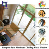 Hemlock / Oak / Teak Wood Aluminum Tilt & Turn Window, Highly Praised Wood Clad Aluminum Casement Window