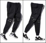 Knee Zipper Plain Pants Casual Jodder Trousers