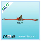 1.5t*35mm 5m Ratchet Strap with Double J Hook