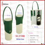 PU Leather Single Bottle Wine Holder (5988)
