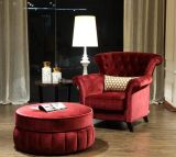 Hot Sale Cheap Hotel Arm Chair with Stool