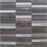 Strip Aluminium and Slate, Quatz Mixed Mosaic Tiles (CFA103)