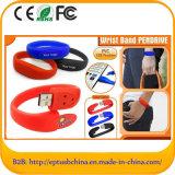 Free Custom Logo Silicone Bracelet USB Pendrive (EG003)