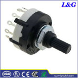 Electrical Power Mini 1-4 Pole 2-24 Position Rotary Selector Switch (RS26)
