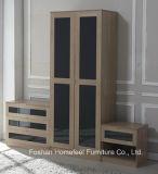 New Design High Gloss Bedroom Wardrobe Trio Set