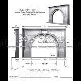 White Carrara with Grey Veining Fireplace for Building Material Mfp-1002