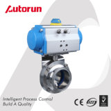 Tri-Clamp Stainless Steel Sanitary Pneumatic Butterfly Valve
