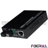 Gigabit Auto-Negotiation Wdm Media Converter with 1X9 Optical Transceiver 60km